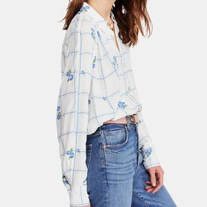 Free People Window To My Heart Button Down Size S